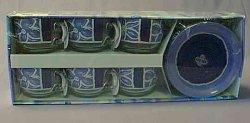 MARINE Šálek s podšálkem 22 cl dekor