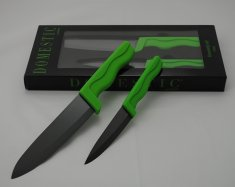 DOMESTIC BL GREEN Ceramic knives set 2 pcs blade 10 cm + 15 cm